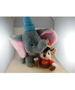 Vintage Dumbo Disney Plush 11 + 4 inch Hat Plus Timothy Mouse made in Korea - $27.71