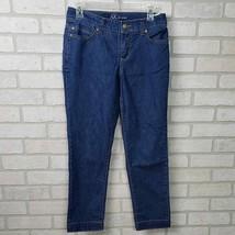 Anne Klein Cropped Jeans Sz 4/26 Midrise - $7.92