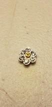 Origami Owl Charm (New) White & Yellow Jeweled Daisy - $8.85