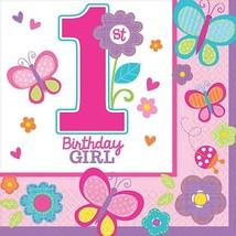 Amscan Sweet Birthday Girl Beverage Napkins, One Size, Pink - $24.24
