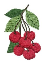 Nature Weaved in Threads, Amazing Fruits[Cherries ] [Custom and Unique] Embroide - $12.87