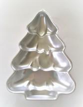 "Vintage Wilton Christmas Tree Cake Pan Aluminum 1986 2105-9410 10"" x 14""  - $9.95"