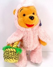 Disney Store Winnie the Pooh Pink Plush Stuffed Easter Pink Basket Easte... - $13.85