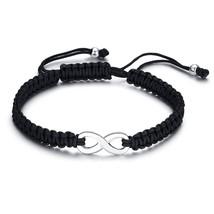 ZORCVENS Infinity Lovers Friendship Bracelets for Women Man Jewelry Black Handma - $16.81