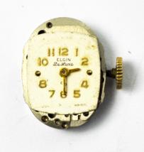 Elgin DeLuxe Grade 651 17 Jewels Not Running for Repair or Parts - $7.91