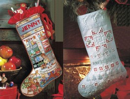 Hardanger Xmas Stocking Ornament Cross Stitch Mother's Kitchen Stocking ... - $9.99