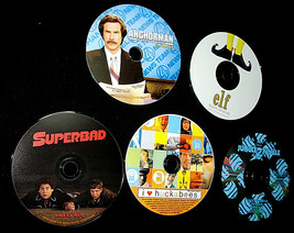 Lot Of 5 Digital PressKits -CD Photos- ANCHORMAN, SUPERBAD, ELF, HUCKABE... - $14.80