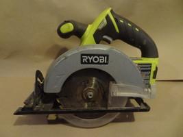 RYOBI 18V GREEN  CORDLESS CIRCULAR SAW P503  BARE TOOL  WORKS WELL  USED - $37.99