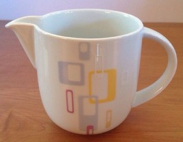Jamie Oliver RETRO Royal Worcester Pitcher Yellow Lavender Squares Small Sorts - $32.64