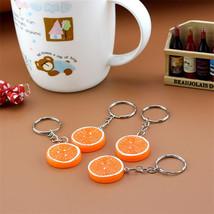 Keychain 1 psc Fruit Keyring Orange & Lemon Charm - $5.99+