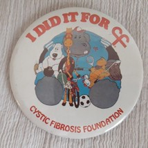 Vintage 1983 Cystic Fibrosis Foundation Pin-Back Button I Did it For CF ... - $7.99