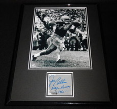 Joe Bellino Signed Framed 11x14 Photo Display Navy Heisman Trophy - $74.44