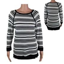 L-RL Lauren Active Ralph Lauren women's sweater size XL knit striped cot... - $17.81