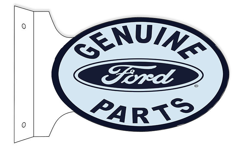 Genuine Ford Parts Double Sided Flange Sign 12X18 Oval