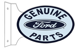 Genuine Ford Parts Double Sided Flange Sign 12X18 Oval - $50.49