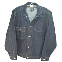 Vintage Ralph Lauren POLO Jeans Co. Denim Jean Jacket Trucker Flag Men's XXL - $84.95