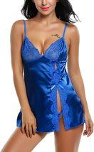 Satin Lingerie Sexy Sleepwear for Women Lace Babydoll S-XXL image 7