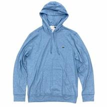 Lacoste Men's Hooded T-Shirt Heather Light Blue Long Sleeve Lightweight ... - $54.99