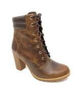 "Timberland Women's Tillston 6"" Medium Brown Heeled Boots A1UQ2 - $119.99"