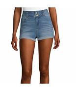 Blue Spice Women's Juniors Super High Waist Rolled Shorts Size 3 Med. Wash - £19.56 GBP