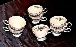 Bavarian German China Set of Johann Haviland Tea Cups AB 55-A  Vintage