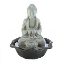 Buddha On Lotus Tabletop Fountain - $42.96