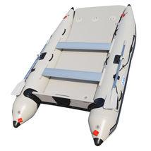 BRIS 11 ft Inflatable Catamaran Inflatable Boat Dinghy Mini Cat Boat Gray image 3