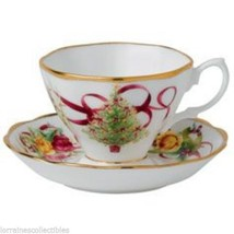 Royal Albert  Old Country Roses Christmas Tree Teacup & Saucer Set NEW I... - $37.40