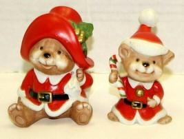 HOMCO Christmas #5600 Claus Family Bears Santa and Baby Bear Set Holiday Figures - $11.88