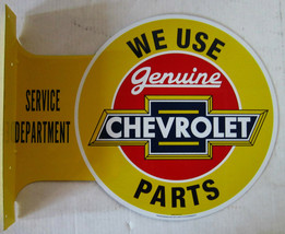Chevrolet Parts  Flange Metal Sign - $39.95