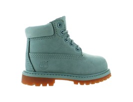 Kids Timberland 6 Inch Premium Boot TD Sky Blue Brown TB0A1KPS - $74.77