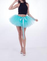 WOMEN MINI TUTU Skirt Drawstring Waist Solid Color Mini Petticoats Ballet Skirts image 6