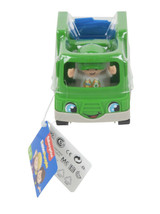 Fisher Price Little People Recycle Truck Green Garbage Truck Driver Figu... - $9.90