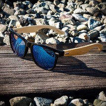 Bamboo sunglasses wooden Wood Vintage Eyewear for Mens Womens (Black, Gree - $18.64