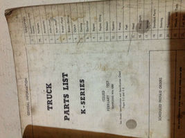 1957 Dodge Truck K FK Serie Teile List Manuell Cdn OEM Fabrik WM 4367 image 4