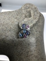 VINTAGE CZ EARRINGS 925 STERLING SILVER - $114.84