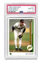 John Smoltz (Braves) 1989 Upper Deck Baseball #17 RC Rookie Card PSA 10 ... - $147.51