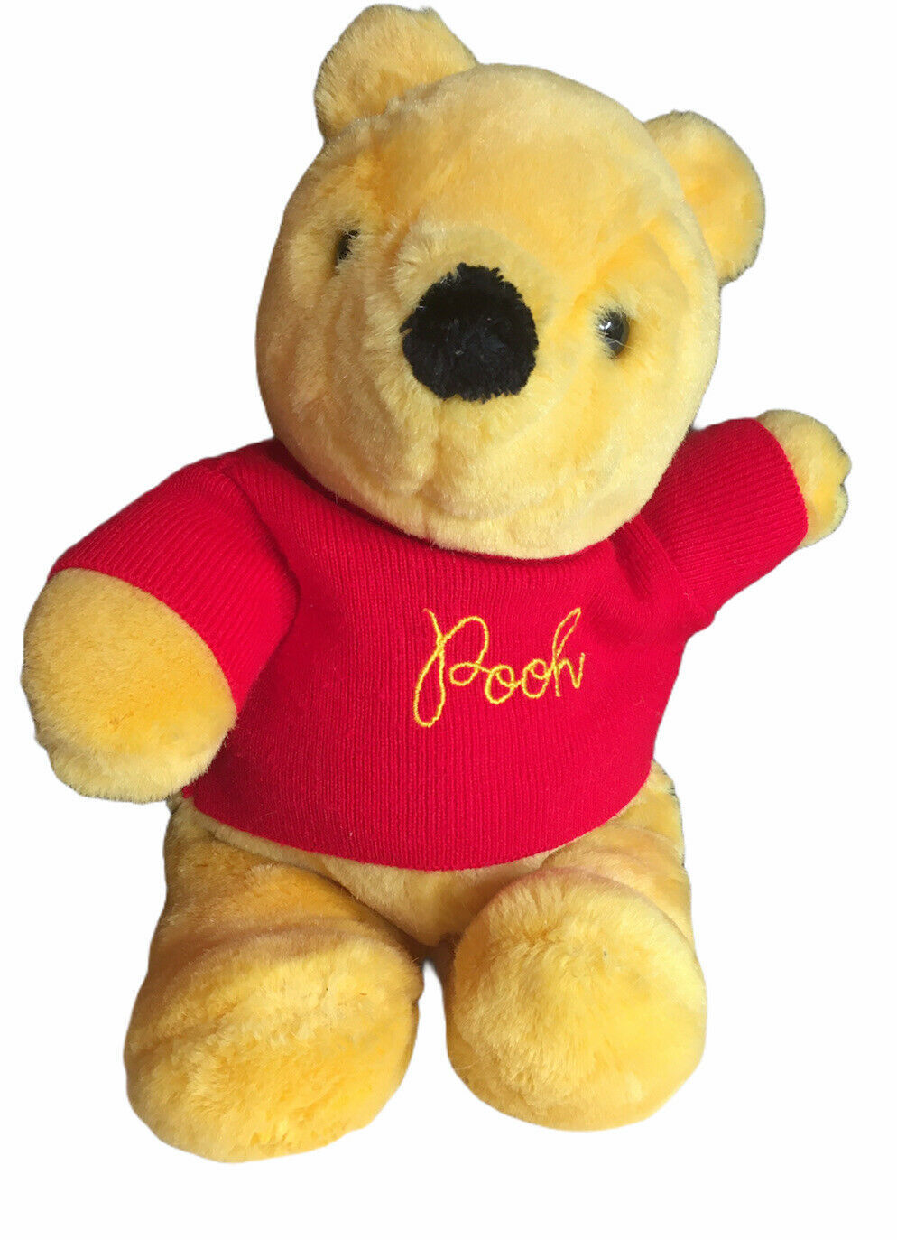 """Vintage Gund Sears Winnie The Pooh 12"""" Plush Winnie The Pooh With Red Sweater - $16.78"""