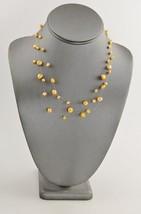 "VINTAGE ESTATE Jewelry 17"" FLOATING PEARL ADJUSTABLE NECKLACE PEACHY LT ... - $10.00"
