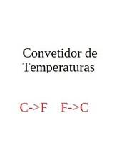 Converter Celsius->Farenheit, Farenheit->Celsius - $19.99
