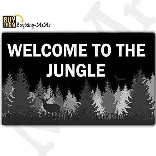 MsMr Funny Doormat Welcome Mat Entrance Floor Mat Indoor/Outdoor/Kitchen Mat Non