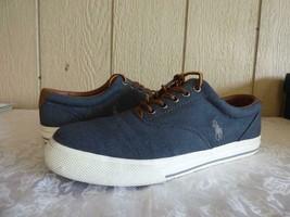 Polo Ralph Lauren Vaughn Sneakers, Denim, Herringbone Chambray, US 10, D- used - $15.20