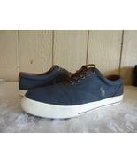 Polo Ralph Lauren Vaughn Sneakers, Denim, Herringbone Chambray, US 10, D... - $15.20