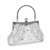 Chichitop Women's Vintage Beaded and Sequined Evening Bag Wedding Party ... - $29.72