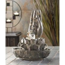 HAND OF BUDDHA Statue Water Fountain Indoor Tabletop - $38.00