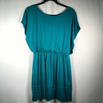 Lush Size Medium Short Sleeve Short Dress Teal - $18.69