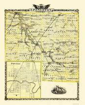 Livingston Illinois - Warner 1870 - 23 x 28.32 - $36.95+