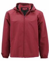 Red Label Men's Lightweight Hooded Water Resistant Zip Up Jacket w/ Defect - XL