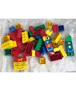 LEGO DUPLO Building Blocks Bulk Lot  1lb. 3 oz. 56 Pieces Many Custom Print - $28.04