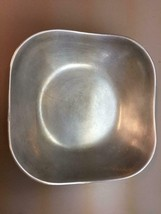 "Wilton Pewter Armetale Serving Bowl Square Medium 9"" square / 3"" deep Scalloped - $19.79"
